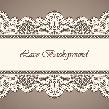 Photo pour Old lace, horizontal seamless vintage background - image libre de droit