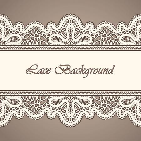 Foto de Old lace, horizontal seamless vintage background - Imagen libre de derechos