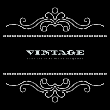 Ilustración de Black and white vintage jewelry background - Imagen libre de derechos