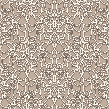 Illustration pour Abstract seamless beige lace pattern - image libre de droit
