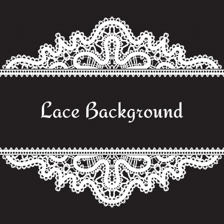 Illustration for Vintage realistic lace background - Royalty Free Image