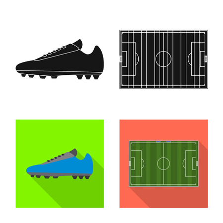Ilustración de Isolated object of soccer and gear sign. Collection of soccer and tournament stock vector illustration. - Imagen libre de derechos
