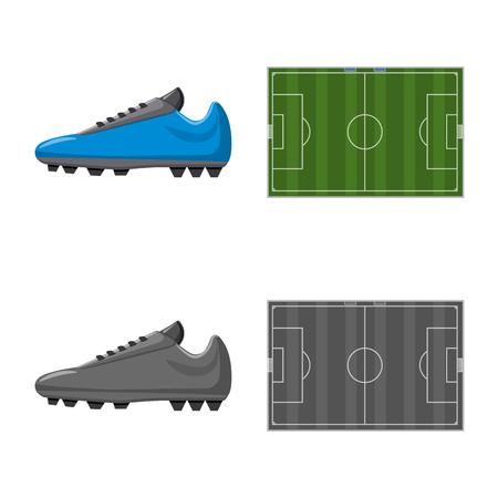 Ilustración de Vector design of soccer and gear icon. Collection of soccer and tournament vector icon for stock. - Imagen libre de derechos
