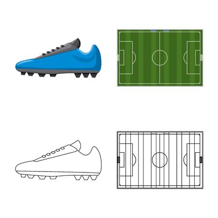 Ilustración de Vector design of soccer and gear icon. Collection of soccer and tournament stock vector illustration. - Imagen libre de derechos