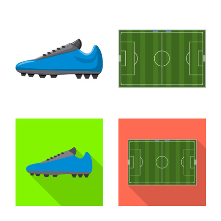 Ilustración de Vector design of soccer and gear symbol. Collection of soccer and tournament stock vector illustration. - Imagen libre de derechos