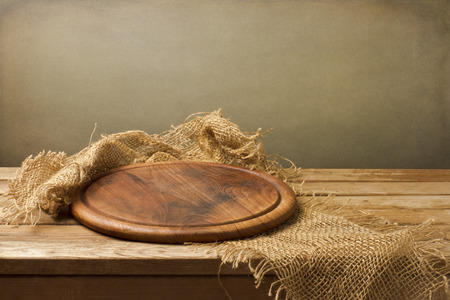 Background with wooden board over grunge background