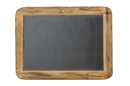 Photo pour Vintage chalkboard with wooden frame isolated on white background - image libre de droit