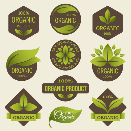 Illustration for Organic products labels - Royalty Free Image