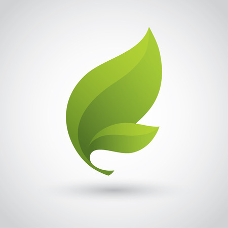 Illustration for Green Leaf Icon - Royalty Free Image