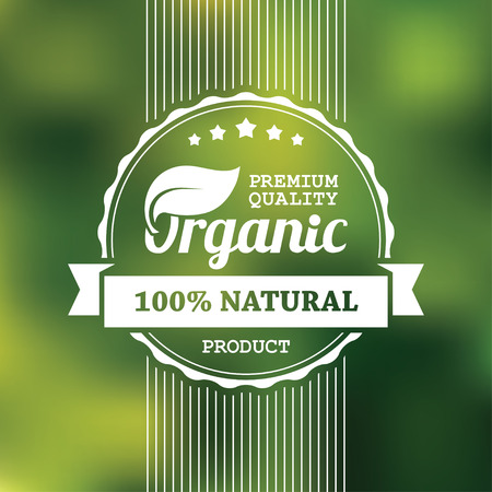 Illustration for Organic product banner - Royalty Free Image