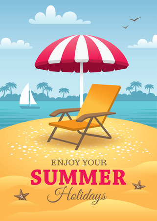 Illustration for Summer Holidays Poster - Royalty Free Image