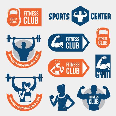 Ilustración de Colored gym labels - Imagen libre de derechos