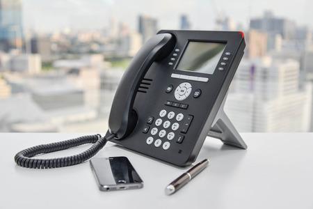 Photo pour IP Phone - New office phone technology - image libre de droit