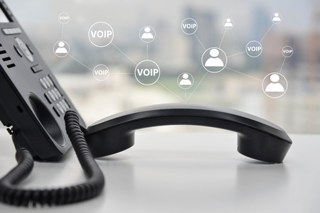Photo pour VOIP - IP Phone technology connecting to other device - image libre de droit
