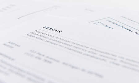 Photo for Resume for applying the job - Royalty Free Image