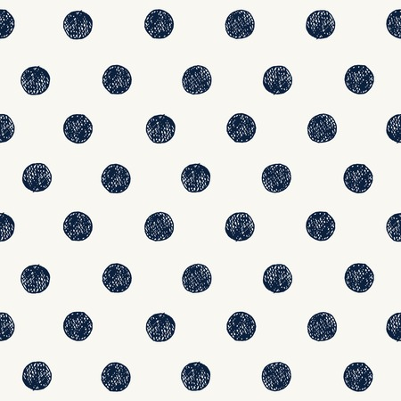 Photo pour Seamless pattern with hand drawn circles. Vector - image libre de droit