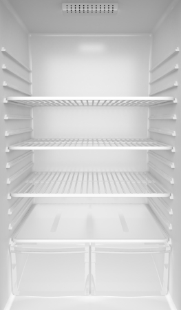 Photo for Inside of an empty white fridge - Royalty Free Image