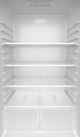 Foto de Inside of an empty white fridge - Imagen libre de derechos