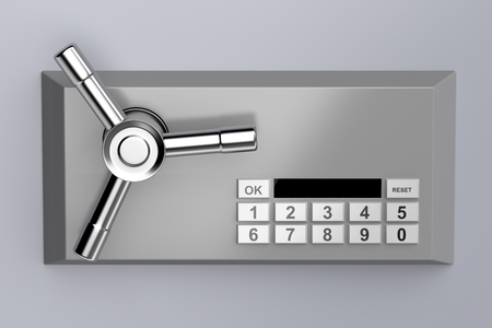 Foto de Bank safe with digital lock - Imagen libre de derechos