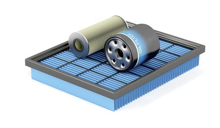 Photo pour Set of air, oil and petrol filters - image libre de droit