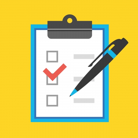 Illustration pour Vector Form with Pen and Checkboxes Icon - image libre de droit