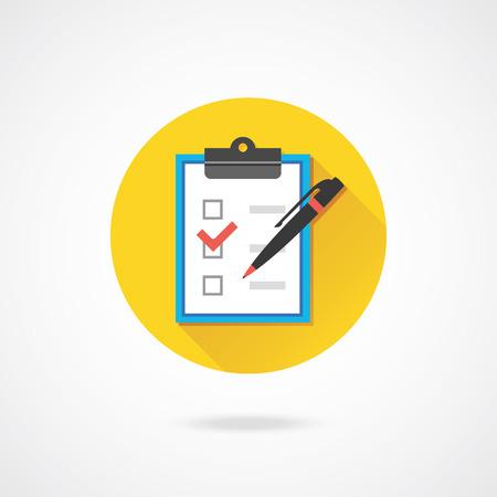 Illustration pour Vector Form with Pen and Checkboxes Icon - image libre de droit