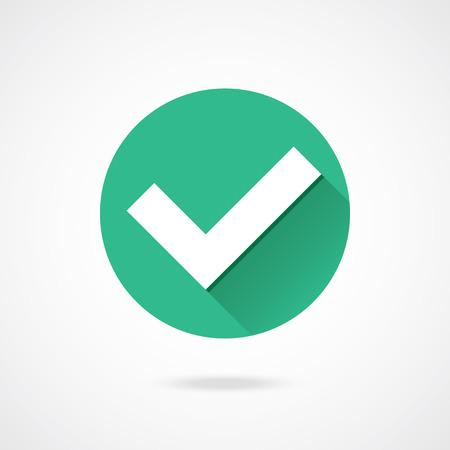 Illustration pour Vector Tick Icon  - image libre de droit