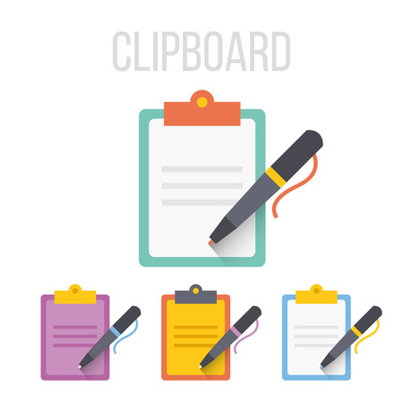 Photo pour Vector clipboard icons - image libre de droit