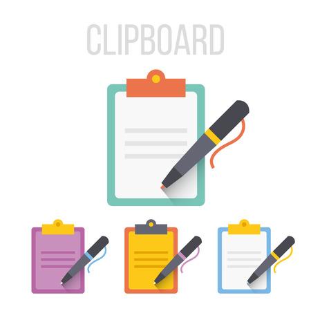 Illustration pour Vector clipboard icons - image libre de droit