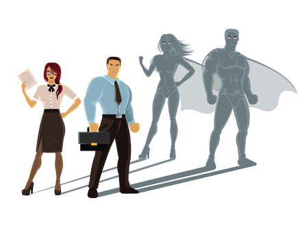 Ilustración de Vector super business people illustration - Imagen libre de derechos