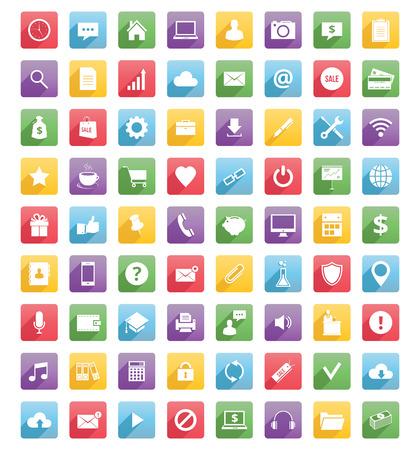 Illustrazione per Universal web icons and mobile icons - Immagini Royalty Free