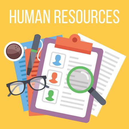 Illustration pour Human resources. Search for candidate process - image libre de droit