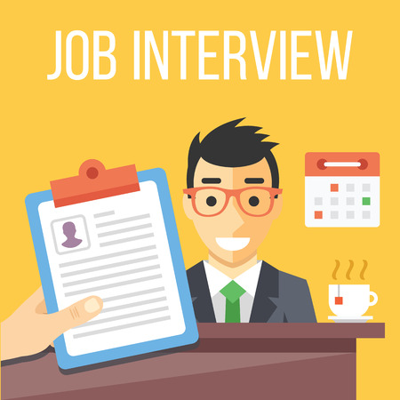 Illustration pour Job interview flat illustration - image libre de droit