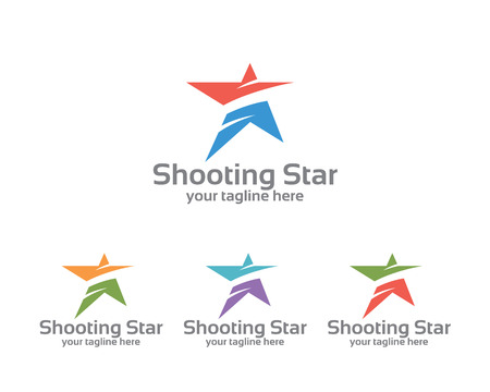 Illustration pour Abstract star business identity  template. Star vector  design branding corporate identity. Simple modern star vector . - image libre de droit