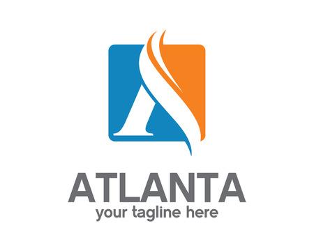Ilustración de Business corporate letter A logo design template. Simple and clean flat design of letter A logo vector template. Letter A logo for business . - Imagen libre de derechos