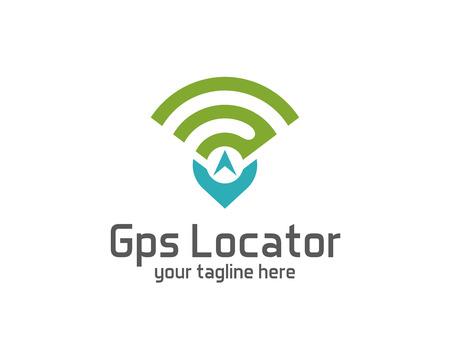 Ilustración de GPS locator design vector template. Pin maps symbol vector . Gps icon design vector. Simple clean design Gps locator logo vector. - Imagen libre de derechos