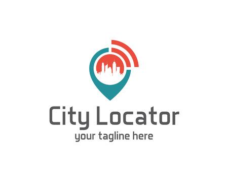Ilustración de City locator design vector template. Pin maps symbol vector . Gps icon design vector. Simple clean design Gps locator logo vector. - Imagen libre de derechos