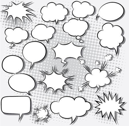 Illustration pour vector illustration of comic speech bubbles - image libre de droit