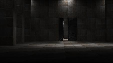 Foto de Space environment, ready for comp of your characters.3D rendering - Imagen libre de derechos