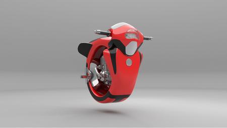 Photo pour Futuristic motorcycle 3d rendering - image libre de droit