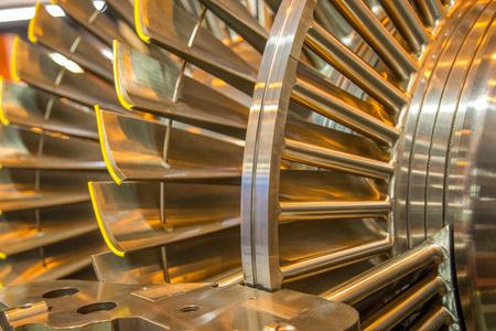 Foto de turbine rotor internal steel machine - Imagen libre de derechos