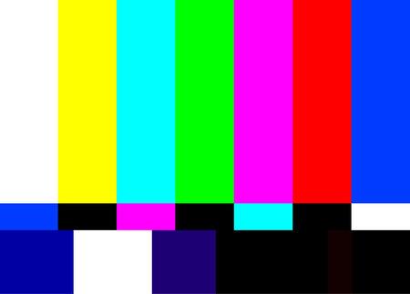 Illustration pour retro television test pattern vector illustration - image libre de droit