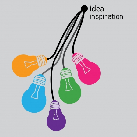 Illustration for idea light bulb icons - Royalty Free Image