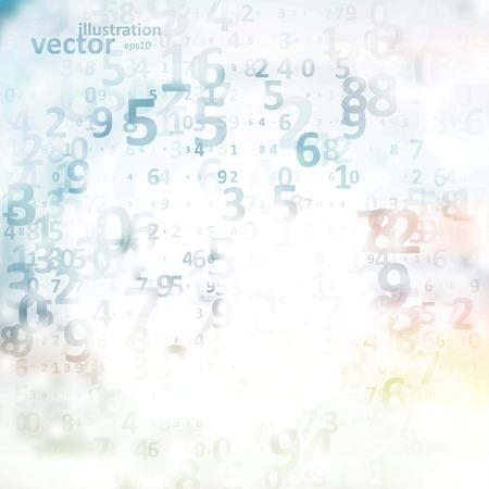 Illustration pour Digital code background, abstract vector illustration  - image libre de droit