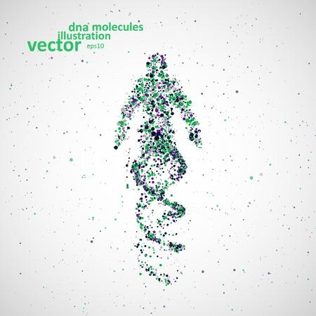 Ilustración de Futuristic model man of dna, abstract molecule cell illustration - Imagen libre de derechos