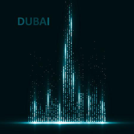 Illustration pour Technology image of Dubai. The concept vector illustration eps10 - image libre de droit