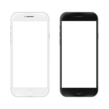 Illustration pour Realistic mobile phone. Smartphone illustration isolated on white background. Graphic concept for your design - image libre de droit