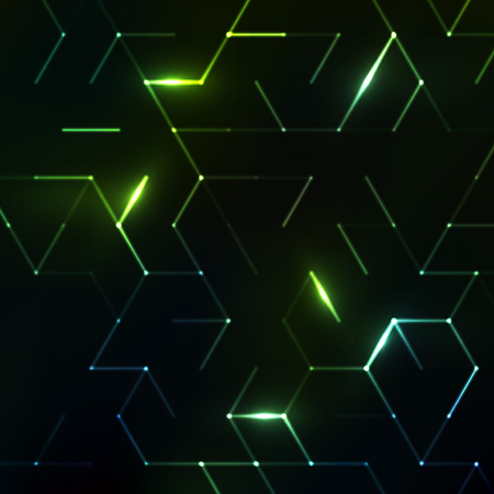 Illustration pour Abstract polygonal space. Background with connecting dots and lines. Graphic concept for your design - image libre de droit