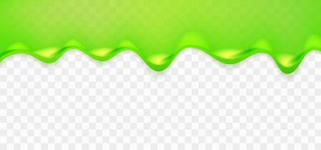Ilustración de Realistic green sticky slime. Illustration isolated on transparent background. Graphic concept for your design - Imagen libre de derechos