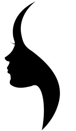 Ilustración de Vector silhouette of a woman on a white background. - Imagen libre de derechos